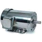 Leeson Motors 3-Phase Washguard Duty Motor 3/2HP, 3450/2850RPM, 145TC, TEFC, 208 230/460V