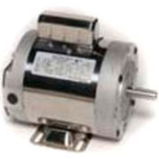 Leeson 6439191250, 1/2 HP, 1800 RPM, 1-Phase, 115/230V, 60 Hz, 56C, TENV, C-Face Footless, 15 Min.