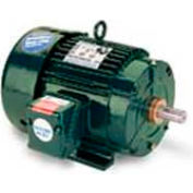 Leeson Motors 3-Phase Severe Duty Motor 1.5HP, 3460RPM, 143T, TENV, 60HZ, Cont, 40C, 1.15SF, Rigid