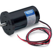 Leeson Motors DC Motor Low Voltage, 1.6HP, 3000RPM, 56D, IP44, 90V, S1, 40C, B14, Comme