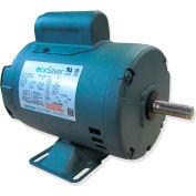Leeson E110384.00, 1HP, 3450RPM, 56C DP 115/230V, 1PH 60HZ Cont. 40C 1.25SF, C-Face Footless