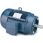 Leeson G120038.00, High Eff., 2 HP, 1740 RPM, 208-230/460V, 145TC, TEFC, C-Face Footless