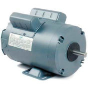 Leeson Motors Single Phase Farm Ag Motor 2HP, 1725RPM, TENV, /230V, 60HZ, Airover, Auto, Rigid
