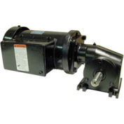Leeson M1145127.00, 3/8 HP, 29 RPM, 208-230V, 3-Phase, TEFC, 13, 60:1 Ratio, 220 In-Lbs