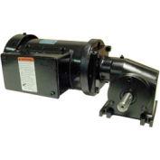Leeson Motors Motor Gearmotor-Right-Angle Shaft, 340RPM, 3/8HP, TEFC, /208-230V, AC