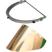 Paulson Aluminum Hat Bracket & Gold/Green Face Shield, CB12- HA + IM22- GHC6FM
