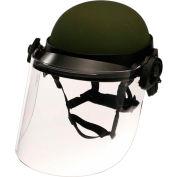 "Paulson DK6 Series Riot Face Shield, Non-Ballistic, Polycarbonate, Clear, 17"" x 8"" - DK6-H.150"
