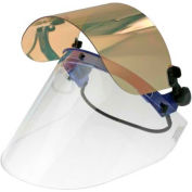 Paulson QuickView Flip Front Face Shield Kit For Slotted Caps, Clear/Gold Window, QV226GHC- 6