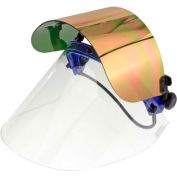Paulson QuickView Flip Front Face Shield Kit For Caps, Clear/Gold/Green Window, QV226GHCFM- 6