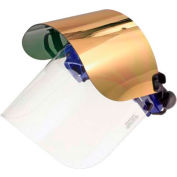 Paulson QuickView Flip Front Face Shield Kit For Caps, Clear/Gold/Green Window, QV96GHCFM- 6