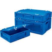 "Schaefer Attached-Lid Container LTBDH4120.BL1 - 16""L x 12""W x 5""H - Blue"