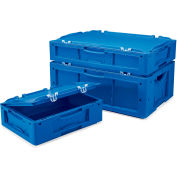 "Schaefer Attached-Lid Container LTBDH6220.BL1 - 24""L x 16""W x 9""H - Blue"