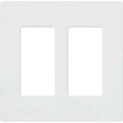 Lutron Claro® Wallplate, 2 Gang, Gloss White