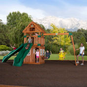 Backyard Odyssey™ Outing Cedar All Cedar Outdoor Swingset