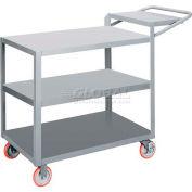 Little Giant® 3-Shelf Order Picking Truck 3LG2448-WSBRK, 48 x 24 1200 Lb. Capacity