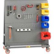 "Little Giant® Mobile 2-Sided Pegboard Lean Tool Rack, 48""W x 24""D"
