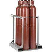 "Little Giant® Vertical, 6 Cylinder, Gas Cylinder Pallet Stand, 33""W x 36""D x 41""H"