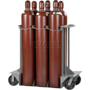"Little Giant® Vertical, 6 Cylinder, Gas Cylinder Truck, 24""W x 50""D x 48""H"