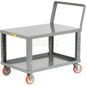 Little Giant® Ergonomic Adjustable Height Shelf Truck LK1832-5PYBKAH, 32x18 1200 Lb.