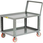 Little Giant® Ergonomic Adjustable Height Shelf Truck LKL3060-5PYBKAH, 60x30 1200 Lb.
