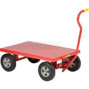 """Little Giant® Steel Deck Nursery Wagon Truck LW2436-10-FSD 36x24 Deck 10"""" Rubber 1200 Lb."""