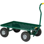 Little Giant® Nursery Wagon LWP-2436-10-G Perforated Steel 36x24 Deck Rubber Casters 1200 Lb.