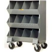"""Little Giant® Heavy Duty Steel Mobile Storage Bins MS4-153, 12 Openings, 32""""L x 20""""W x 45-1/2""""H"""