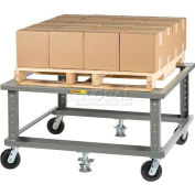 Little Giant® Ergonomic Adjustable Height Pallet Stand PDE-4848-6PH2FL - 48 x 48 3600 Lb.