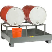 Little Giant® Spill Control Platform with Drum Rack SST-5151-2D - 2 Drum Capacity