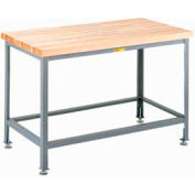 Little Giant WTS-3048-LL  Butcher Block Top Table, with Lower Shelf