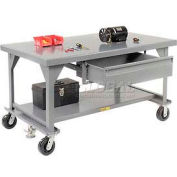 "Little Giant WW4284-8PHFL  Heavy Duty 7 gauge Mobile Workbench, 8"" Phenolic Casters & Floor Lock"