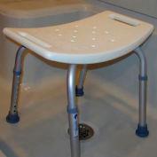 McKesson Sunmark® Econo Aluminum Shower Bench without Backrest, 250 lbs. Capacity, White