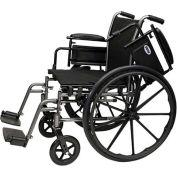 "ProBasics 2012AH Lightweight Wheelchair, 18"" x 16"" Seat, Flip Back Desk Arms, Swing-away Footrests"