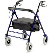"""Invacare® 66550 Bariatric Rollator with 7.5"""" Casters, 500 lbs. Capacity, Blue"""