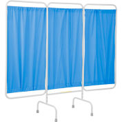 """R&B Wire Products PSS-3 Stationary 3-Panel Privacy Screen, 81""""L x 67""""H, White Vinyl Panels"""