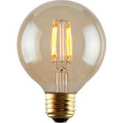 Luminance L7582-1 G25 Nostalgia LED Filament Bulb in Amber, E26 Base, 2W, 180 Lumens, 2200K