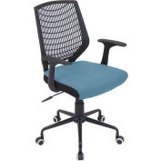"Lumisource Network Office Chair- 22""L x 25""W x 36-3/5 - 39-1/2""H, Black/Smoked Blue"