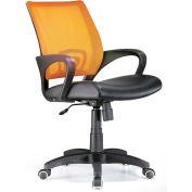 "Lumisource Officer Office Chair- 23""L x 19""W x 36 - 40""H, Tangerine"
