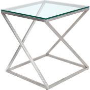 "Lumisource 4Z Side Table - 20-1/2""L x 20-1/2""W x 22""H, Clear"