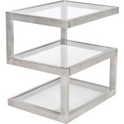 """Lumisource 5S Side Table 20-3/4""""L x 16""""W x 21-1/4""""H Clear"""