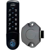 LockeyUSA Electronic Keypad Cabinet & Locker Lock EC780BVSLAM - Vertical Keypad - SLAM Latch - Black