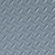 Crown #550 Workers-Delight™ Ultra Deck Plate W/ Zedlan Foam Backing 3'X12' Gray