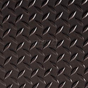 Crown #540 Workers-Delight™ Supreme Deck Plate W/ Zedlan Foam Backing 3'X75' Black