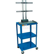 Luxor Adjustable Height Flat Panel Cart, Royal Blue