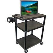 Luxor LE40 - 2 Shelf A/V Cart - 32x24x40-1/2