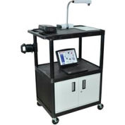 A/V Cart w/ Cabinet - 32x24x48-1/4