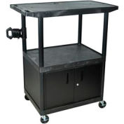 A/V Cart w/ Cabinet & Wide Top - 32x24x48-1/4