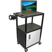 A/V Cart w/ Cabinet - 32x24x54-1/4, Black
