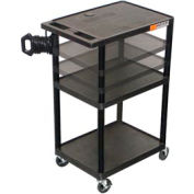 Adjustable Height A/V Cart - 32x24x27-54
