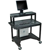 Mobile Computer Desk - 32 x 24 x 37-1/4 Black